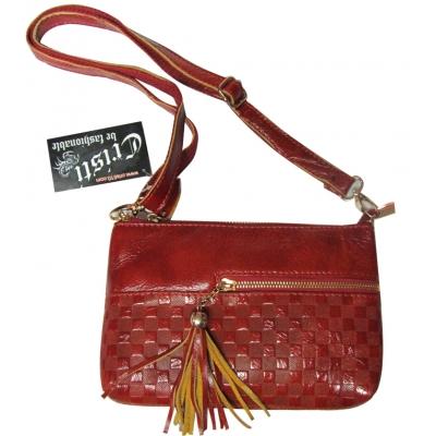 Дамска чанта естествена кожа CRISTI 8611