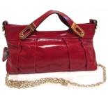 Дамска  чанта естествена кожа, червена 2213