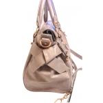 Дамска чанта естествена кожа MIU MIU сива  2268