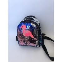 Раница с паети фламинго с два джоба Cristi 14235