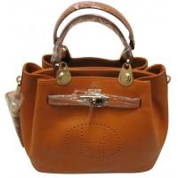 Дамска чанта HERMES от естествена кожа 6437