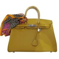 Дамска чанта HERMES от естествена кожа 6444
